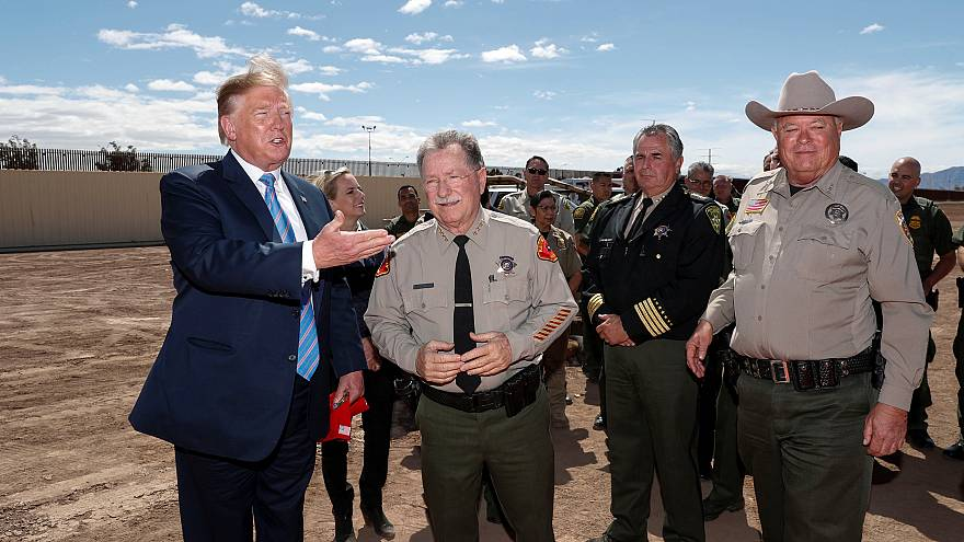 Image: U.S. President Trump visits U.S.-Mexico border in Calexico, Californ