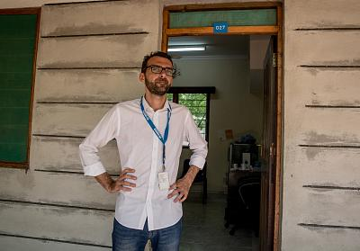 Pietro Fossati, a UNHCR resettlement officer in Dadaab.