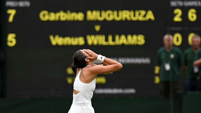 Spaniard Garbine Muguruza beats Venus Williams in Wimbledon final