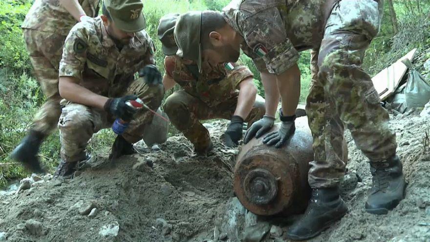 Обезврежена бомба времен Второй мировой войны