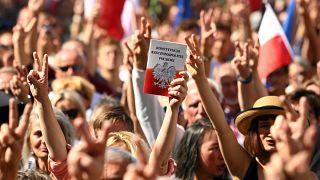 Proteste gegen umstrittene Justizreform in Polen