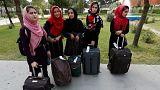 افتتاح رقابتهای ربات سازی واشنگتن با تیم دختران افغانستان