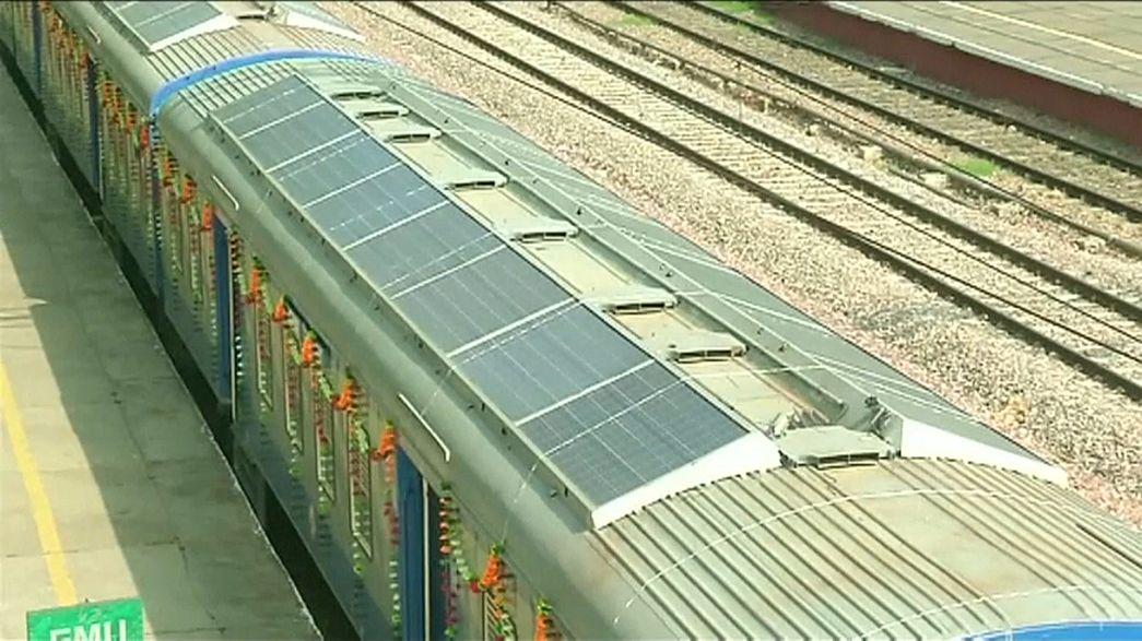L'Inde lance son premier train solaire