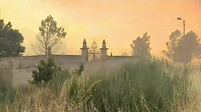 Portugal combate fogos em vários distritos