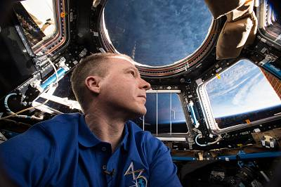 NASA astronaut Terry Virts is seen here inside of the International Space Station\'s Cupola module on May 24, 2015.