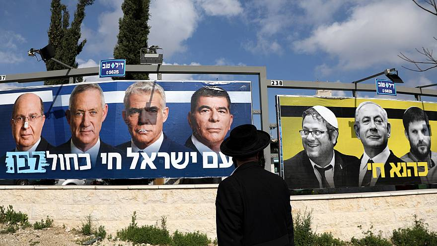 Image: Election campaign posters in Jerusalem