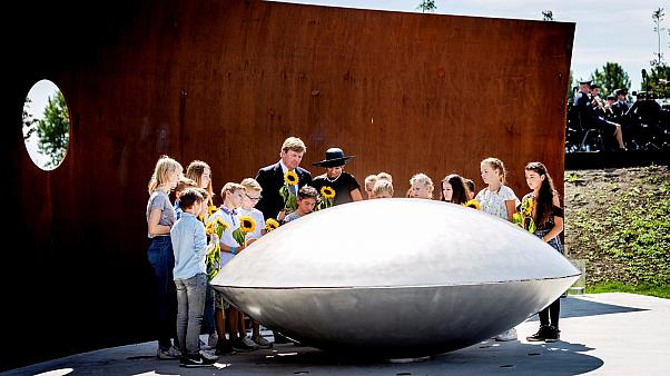 Dutch memorial unveiled to victims of MH17 flight shot down over Ukraine