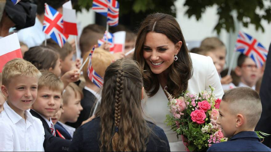 Britain's young royals begin Poland and Germany tour