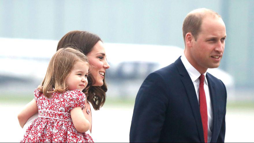 Prens William ve ailesi Polonya'da