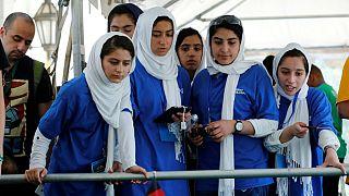 گزارش تصویری؛ آغاز مسابقات المپیک رباتها در آمریکا با حضور تیم دختران افغانستان