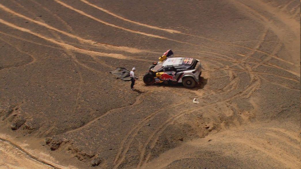 Les espoirs de Sébastien Loeb s'enlisent sur la Route de la Soie