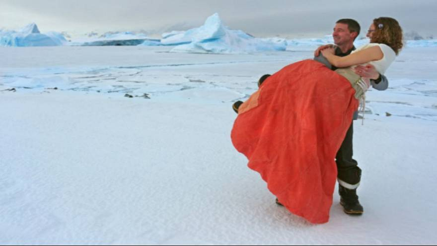 Couple first ever to marry in British Antarctic Territory