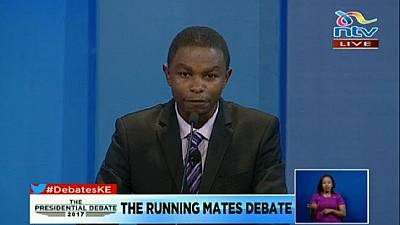 Only one candidate attends Kenya's first elections debate