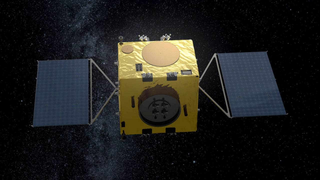 Image: An artist's impression of the European Space Agency's Hera spacecraf