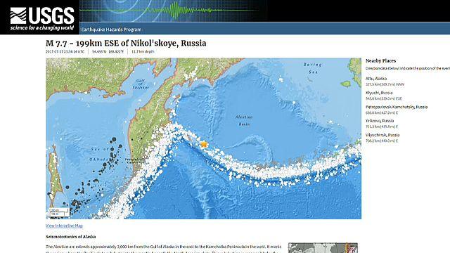 Important séisme en mer de Béring