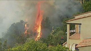 Пожары под Ниццей удалось взять под контроль