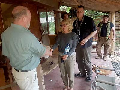 Kim Endicott at the Wild Frontiers Uganda lodge in Queen Elizabeth National Park after she was freed from captivity.
