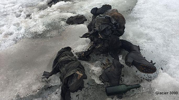 Último abrazo: aparecen los cuerpos de una pareja congelada en un glaciar suizo hace 75 años