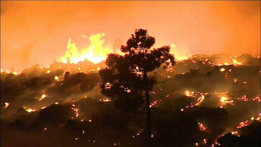 Feuersbrünste in Südeuropa