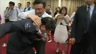 Watch: Brawl in Taiwan's parliament