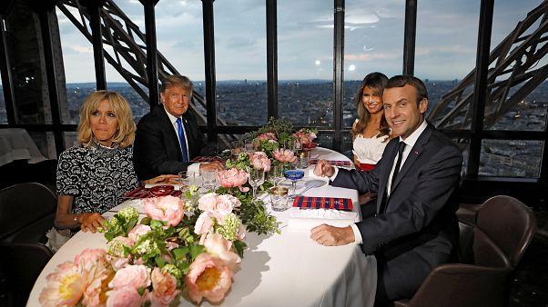 كم كلفت مأدبة العشاء التي جمعت بين ماكرون و ترامب في برج إيفل؟