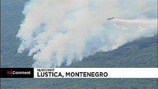 Lakott területeket is veszélyeztet a tűz Montenegróban