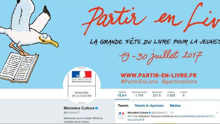 توهین و فحاشی از توییتر وزارت فرهنگ فرانسه