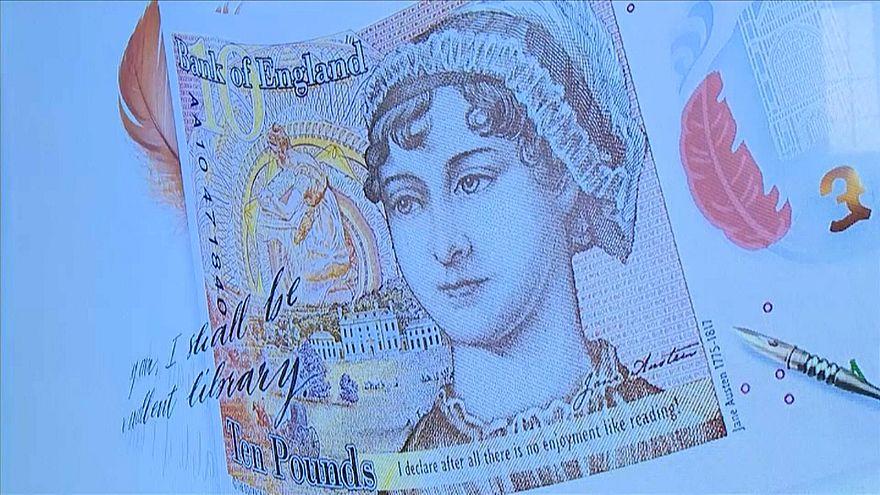 Jane Austen, en los billetes de 10 libras