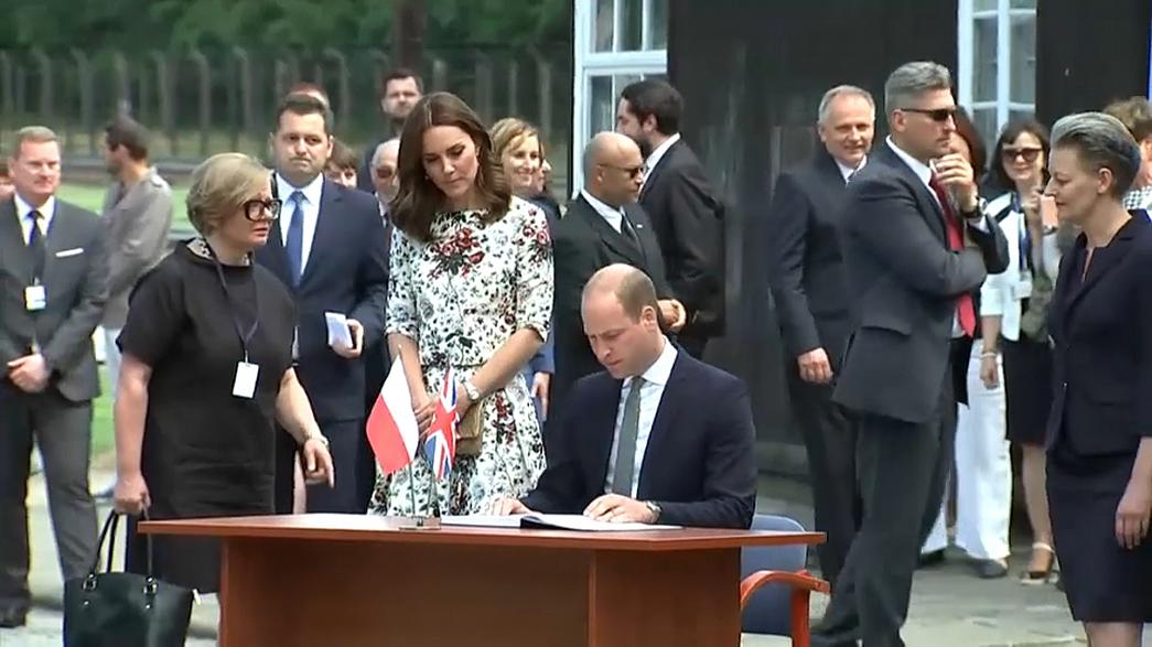 William and Kate visit Nazi camp in Poland