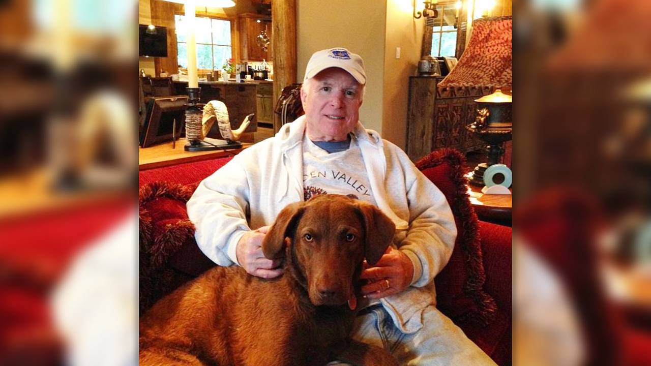 John McCain and his dog