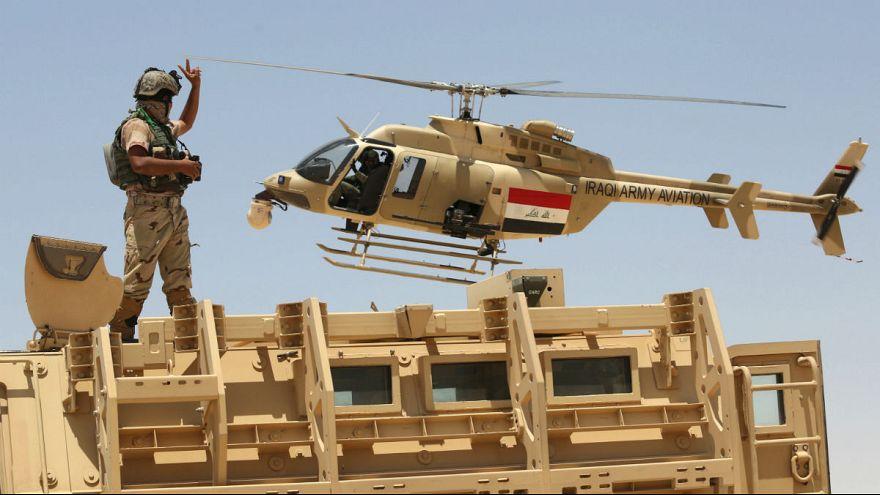 تیراندازی هلیکوپتر عراقی به افراد داعش در ساحل دجله