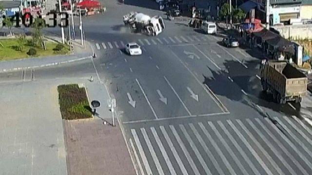Çin'de korkutan kaza