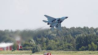 Russia shows off new warplane to world buyers
