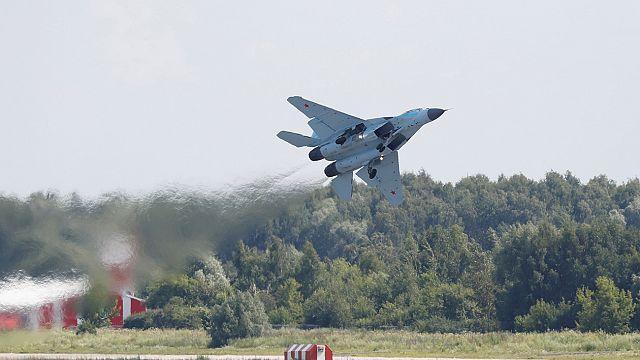 Russia shows off new warplane to world buyers