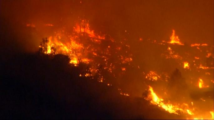 Wildfire rages in California