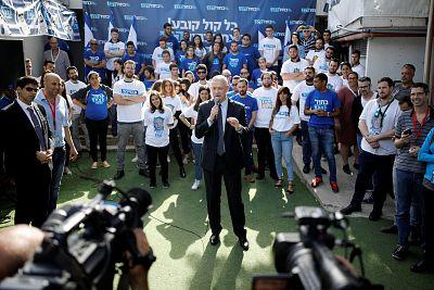 Benny Gantz, leader of the Blue and White Party, in Tel Aviv.