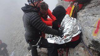 Απεγκλωβίστηκε σώος ο ορειβάτης στον Όλυμπο – Φωτογραφίες και βίντεο