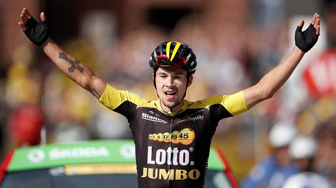 Primoz Roglic vence 17ª etapa da Volta a França.