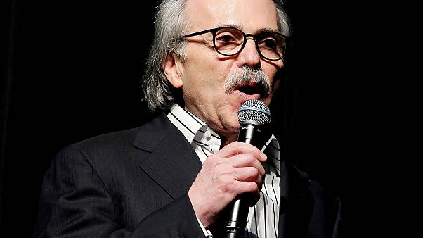 Image: David Pecker, Chairman and CEO of American Media speaks at the Shape