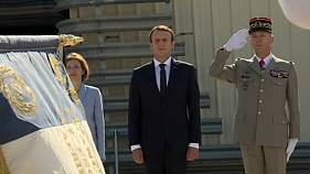 Macron shows solidarity with soldiers after army head quits