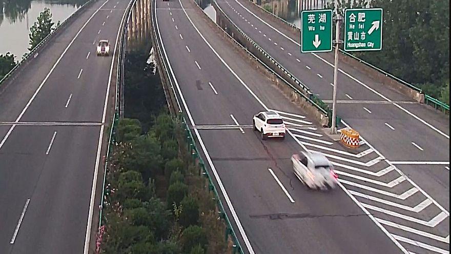 Autópálya-baleset Kínában