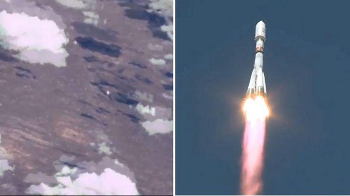 Il lancio del razzo Soyuz