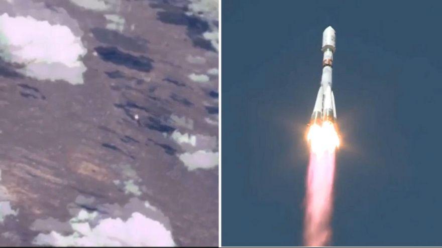 Ritka szemszög: az űrből mutatjuk a Szojuz fellövését
