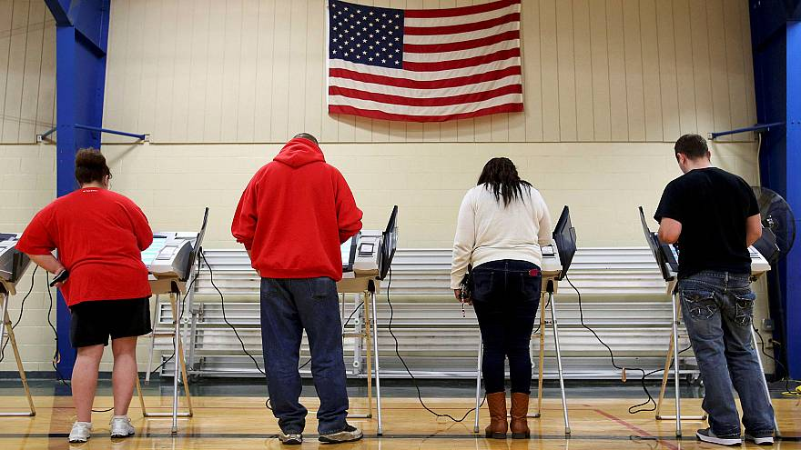 Image: Voters cast their votes during the U.S. presidential election in Ohi