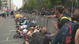 Ellenzéki tüntetés Lengyelországban