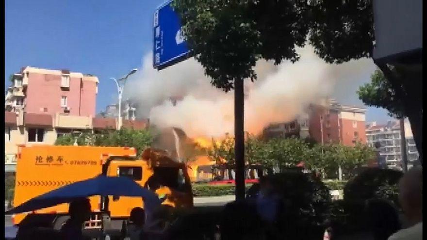 Китай: взрыв газа в ресторане