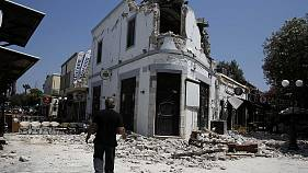Two killed on Greek island in powerful earthquake
