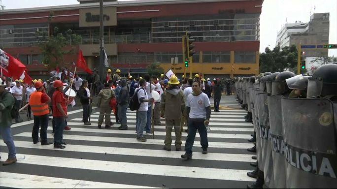 Pérou : les mineurs en grève