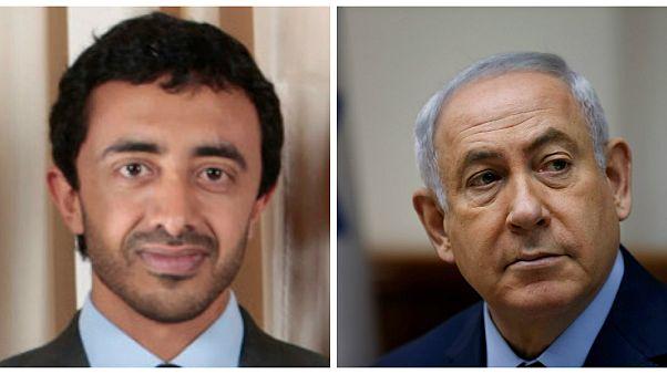 لقاء سري بين نتانياهو ووزير الخارجية الاماراتي