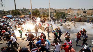 Confrontos entre polícias e manifestantes em Jerusalém